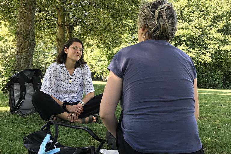 Gespräche im Park